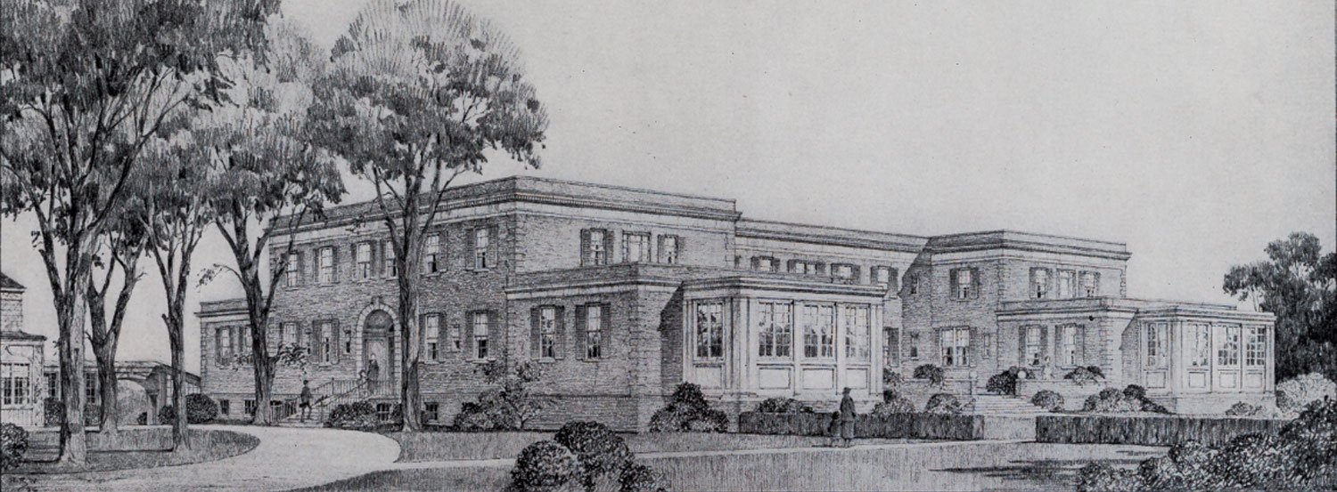Historical drawing of Princeton building